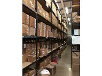 20 bays Hi-lo industrial long span shelving , 3 levels( pallet racking , storage )
