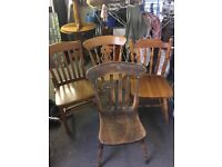 I have for sale 13 various used wooden chairs all in good condition. Selling the lot but would split
