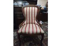 Regency style bedroom/nursing chair