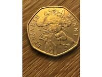 Benjamin bunny 50p 2017 rare coin