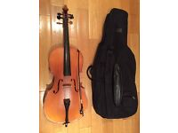 1/2 size Franz Sandner cello. High quality instrument for less than a basic student cello