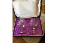 2 Edinburgh crystal brandy glasses