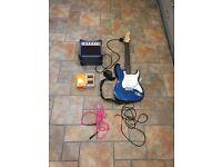 Aria Electric Guitar set (Guitar, Amplifier, Turbo Distortion)