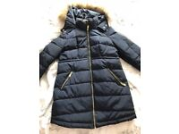 Navy blue maternity coat -excellent condition