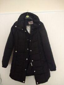 NEW - BLACK PADDED COAT