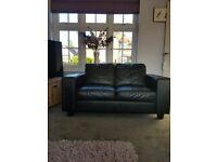 2 seater leather sofa - £100