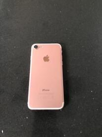 iPhone 7 rose gold 32 GB on EE NETWORK