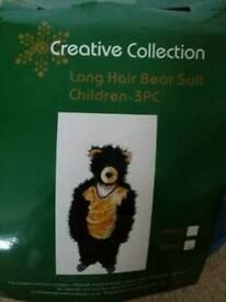 Kids dress up bear costume (fits around age 4yrs)