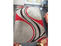 Dunelm Mirage Red Brown Neutral Extra Large Short Pile Rug 160x230