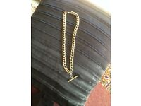 FOR SALE,GOLD Plated chain with T/Bar