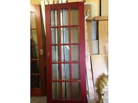 HARDWOOD Glazed internal door