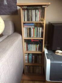 DVD/CD Stand beech whit glass door