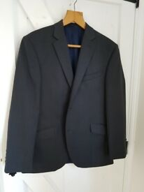 AUSTIN REED charcoal regular fit suit jacket