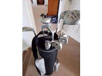 Left Handed Golf Set Including Bag