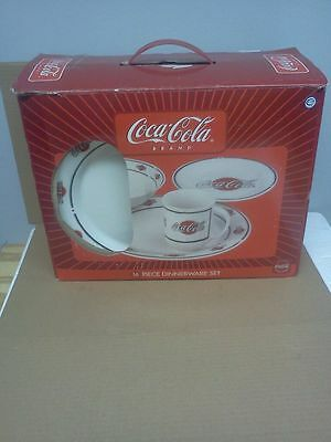 "Coca Cola,Coke,Sakura Oneida 16 piece dinnerware set ""New"" NIB"
