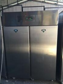 Commercial double door fridge foster for restaurant takeaway cafe pizza shops in excellent condition