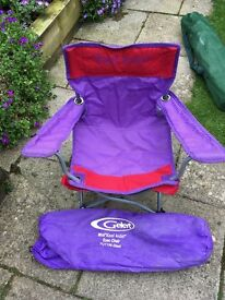 Fold down camping chairs