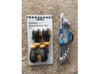 6pc combination spanner set & stubby screwdrivers set