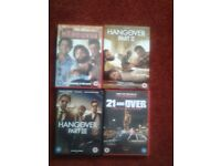 The Hangover DVD Collection plus additional film for sale.