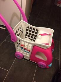 Girl shopping trolly