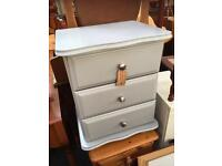 GREY PAINTED PINE BEDSIDE CABINET