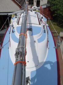 Pandora 23 fin keeled boat