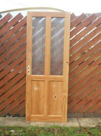 Part Glazed Pine Internal Door