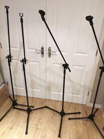 4x microphone boom stands