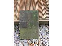 Reclaimed hardrow concrete roof tiles
