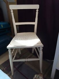 White Painted Small Wooden Chair