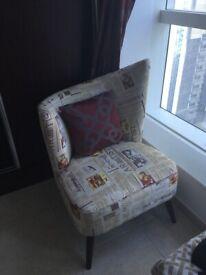 2 arm chairs - newspaper design