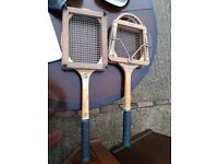 Vintage Tennis Rackets - gut string with stretcher