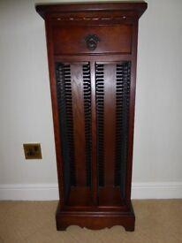 Old Charm Solid Oak CD Cabinet