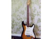 Squier Standard guitar with case
