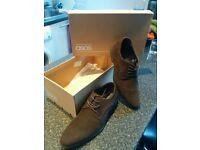 ASOS Brown Derby Suedette Formal Shoes (Size UK 8) Never worn
