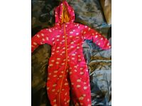 Regatta lined rain splash suit 6-12months