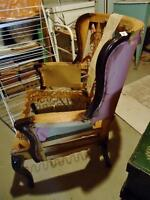 ANTIQUE ARMCHAIR FRAME