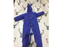 Joules snow baby suit