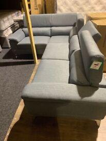 Brand new fabric corner sofa recliner headrest