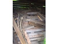 *FREE WOOD* Cut roof timbers, stored dry - collection only.