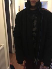Superdry windcheater black coat