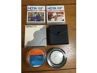Set of 6 Hoya (Japan) Camera Lens Filters