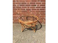 Vintage 1960s 1970s cane coffee table