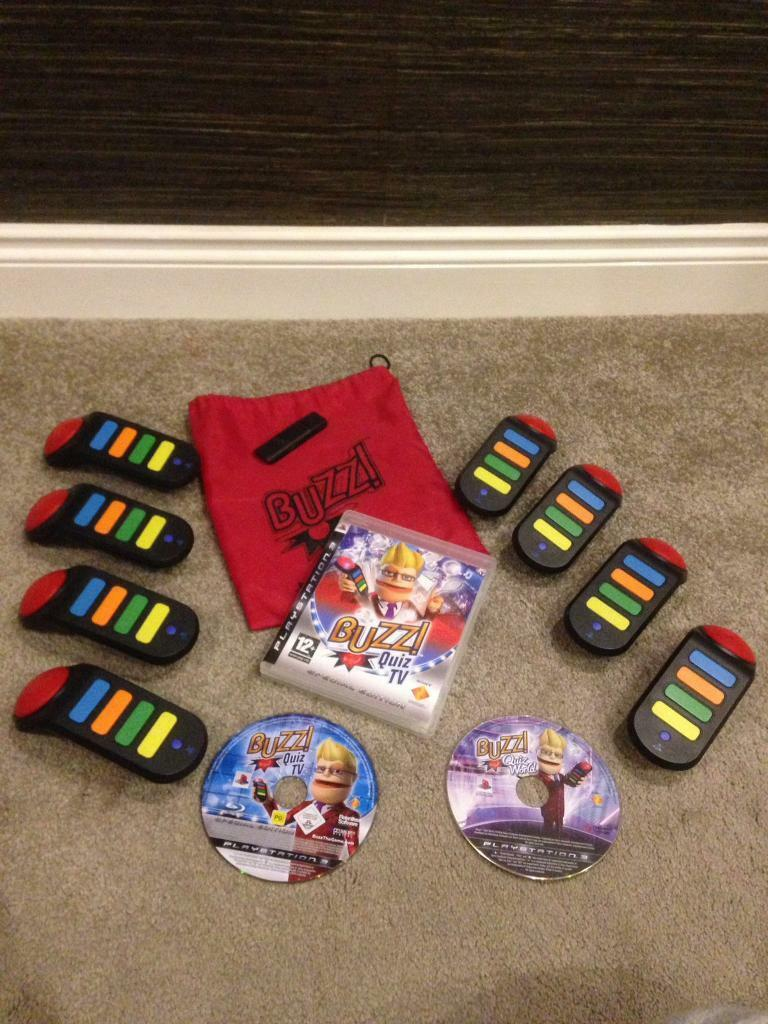Buzz PS3 games and buzzers