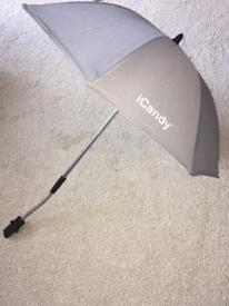 Icandy peach 2 silver mint parasol