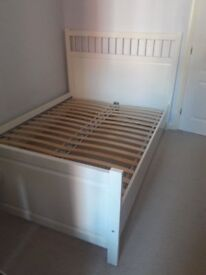 Ikea Hemnes White Double Bed Frame
