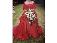 Red sincerity wedding dress size 18-20