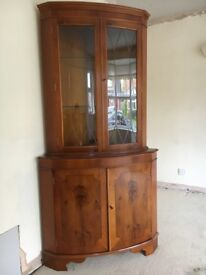 Repro Corner Cabinet, suitable for dinning room, lounge or hall