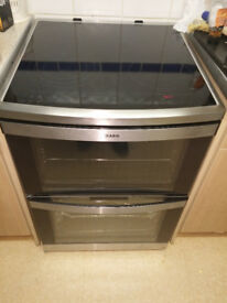 AEG 49002VMN Ceramic Electric Cooker with Double Oven, Great Condition