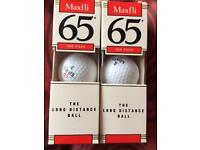 Pack of 2 packs of 3 Maxfli golf balls. Brand new in box.